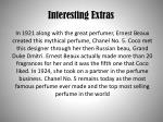interesting extras