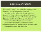 diffusion of english