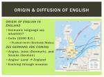 origin diffusion of english1