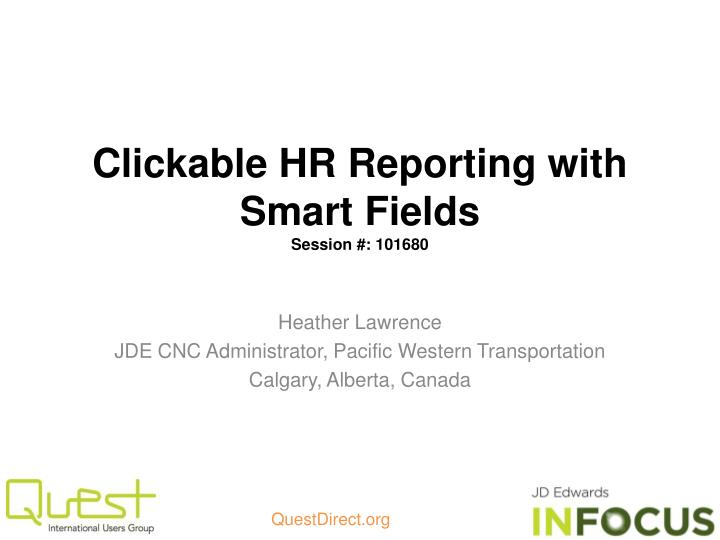 clickable hr reporting with smart fields session 101680 n.