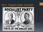 and eugene debs socialist