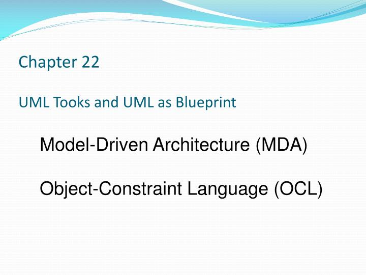 chapter 22 uml tooks and uml as blueprint n.
