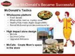 mcdonald s tactics