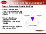 sound business plan is the key