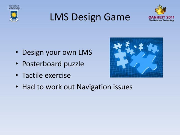 LMS Design Game