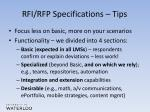 rfi rfp specifications tips