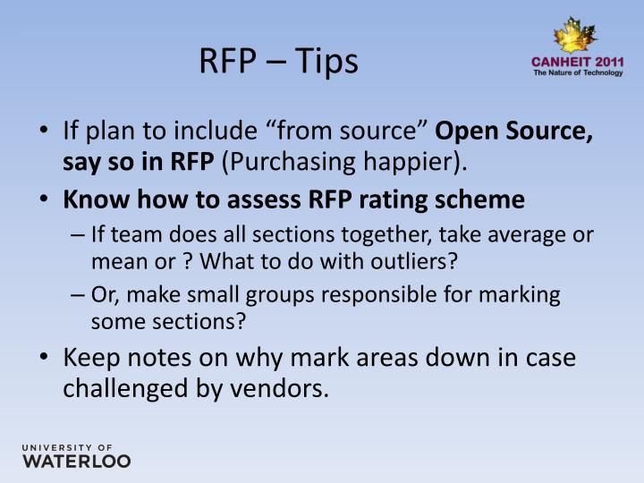 RFP – Tips