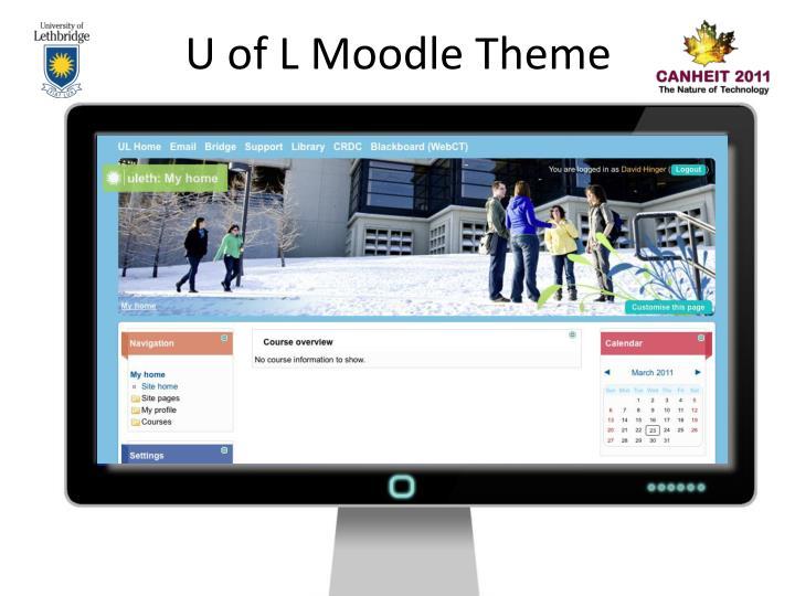 U of L Moodle Theme