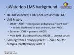 uwaterloo lms background
