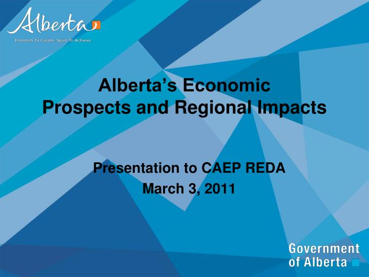 alberta s economic prospects and regional impacts n.