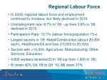regional labour force