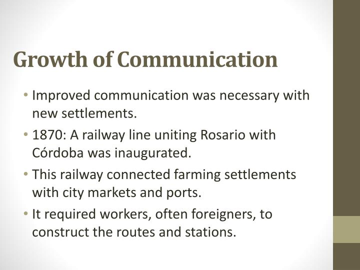 Growth of Communication
