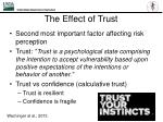 the effect of trust