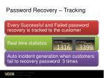 password recovery tracking