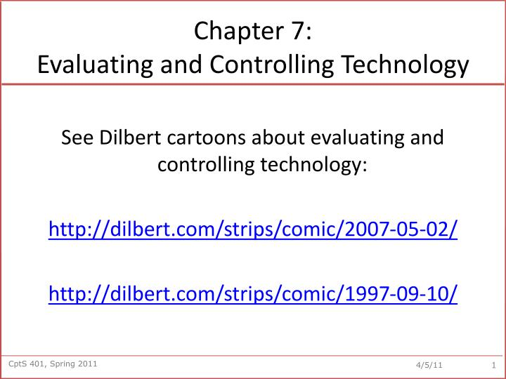 chapter 7 evaluating and controlling technology n.