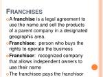 franchises