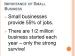importance of small business