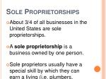 sole proprietorships
