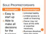 sole proprietorships1