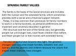 spanish family values