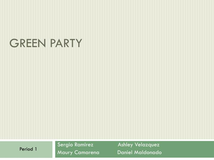 green party n.