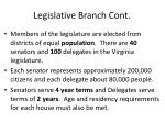 legislative branch cont