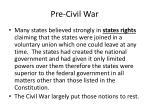 pre civil war