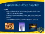 expendable office supplies