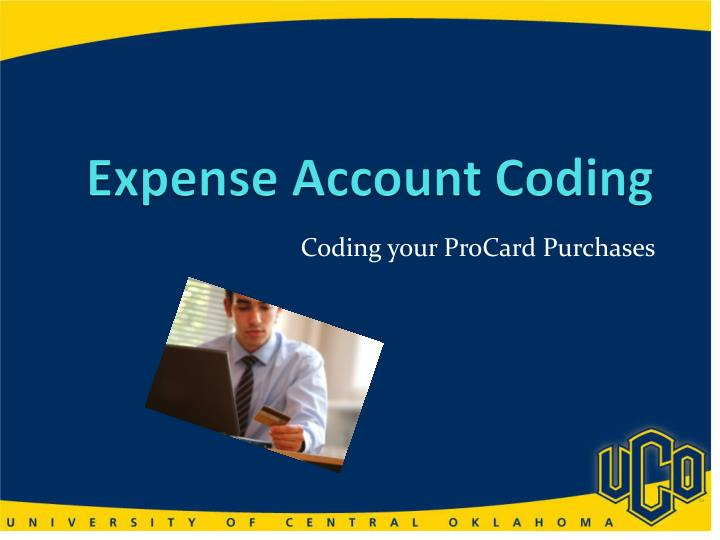 expense account coding n.