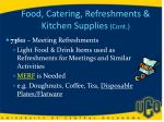 food catering refreshments kitchen supplies cont