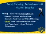 food catering refreshments kitchen supplies