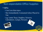 non expendable office supplies