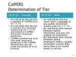 calpers determination of tier