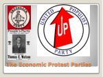 the economic protest parties