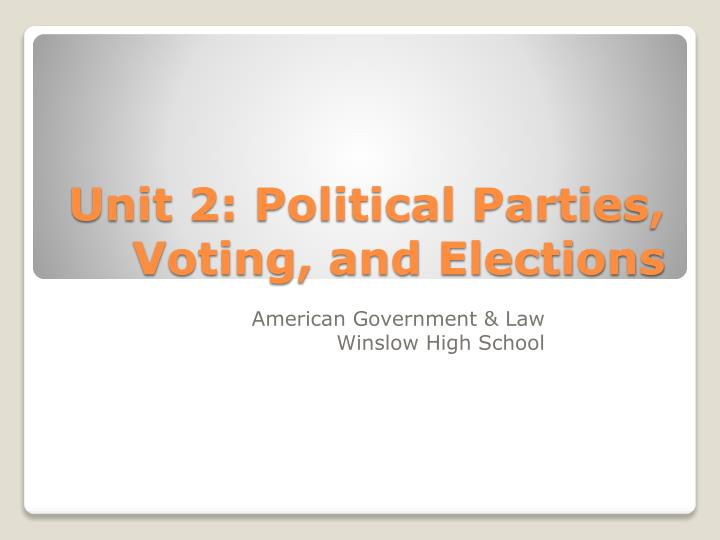 unit 2 political parties voting and elections n.