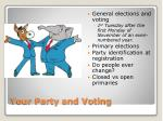 your party and voting