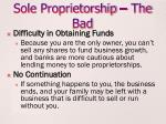 sole proprietorship the bad1