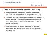 economic growth interpretation