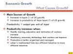 economic growth what causes growth