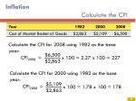 inflation calculate the cpi