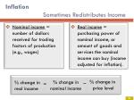 inflation sometimes redistributes income