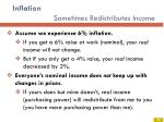 inflation sometimes redistributes income1