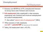 unemployment full employment