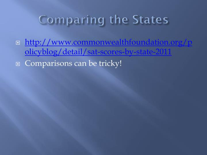 comparing the states n.