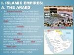 i islamic empires a the arabs
