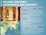 i islamic empires i economics and society