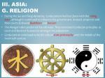 iii asia g religion