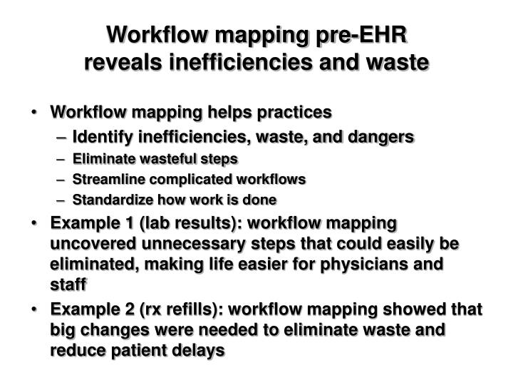 Workflow mapping pre-EHR