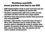 workflows post ehr shows practices how best to use ehr