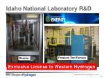 idaho national laboratory r d